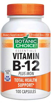 Botanic Choice - Vitamin B-12 Plus Iron - 100 capsules